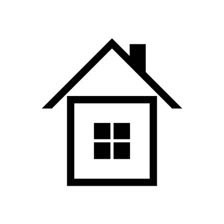 House icon vector simple flat symbol. Solid linear house logo Stock Photo