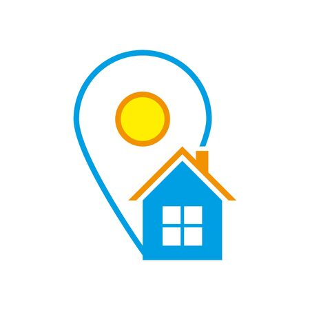 Placeholder flat symbol or location vector icon