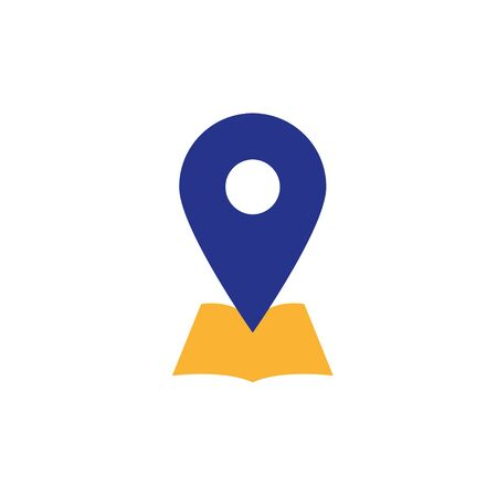 Placeholder flat symbol with local map icon or location vector icon on white background.