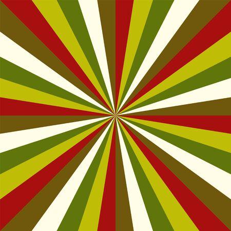 Sunburst vector christmas pattern radial stripes.