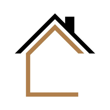 House icon Vector simple flat logo symbol Stock Illustratie