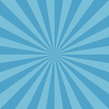 Hiver neige ronde motif bleu sunburst Vecteurs