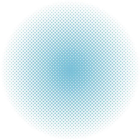 Winter snow round dotted halftone blue