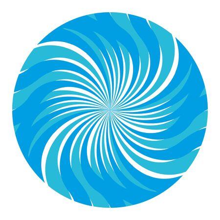 Winter snow round sunburst vector blue
