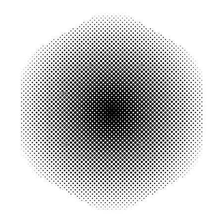 Abstract  black round dots halftone texture