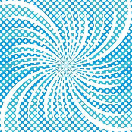 Winter snowflake star halftone round shapes pattern