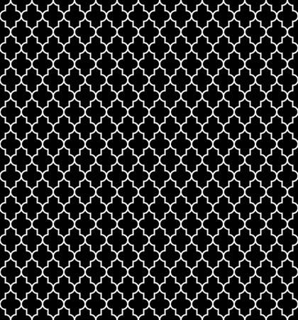 Arabic seamless pattern grid lantern shapes tiles. Banque d'images