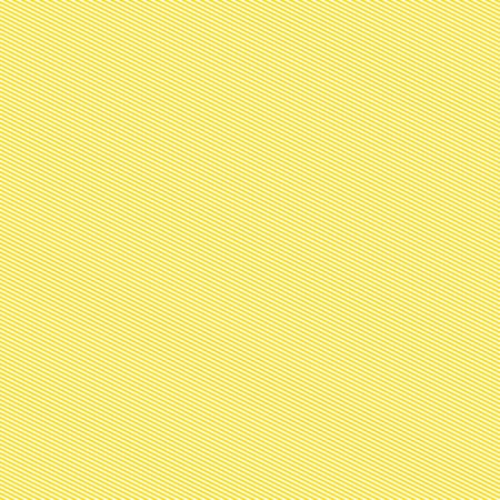 Seamless yellow and white thin diagonal strips pattern. Repeating texture with black thin parallel straight lines on white background. Vector illustration. Stock Illustratie