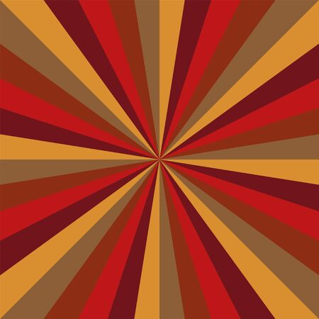 Sunburst vector pattern background with christmas retro vintage colors swirled radial striped design.