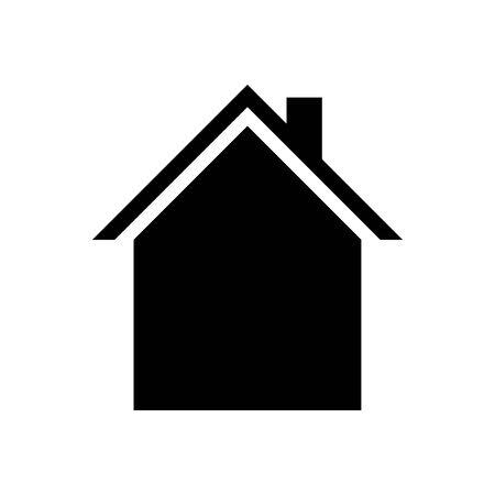 House icon Vector simple flat logo symbol Stock Illustratie