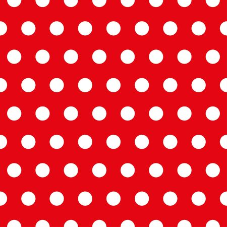 White retro Polka dot pattern on red