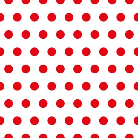 Red Polka dot fabric. Retro vector pattern