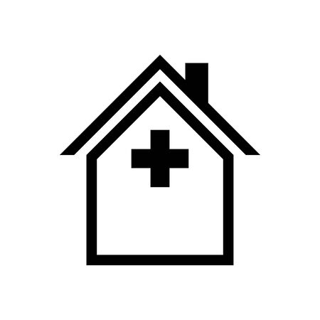 Veterinary clinic house vector sign logo.