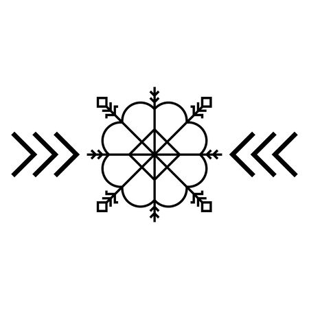 Old baltic Sun sign. Folk star or flower symbol.