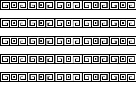 Greek key seamless pattern or texture. Vector Vektorgrafik