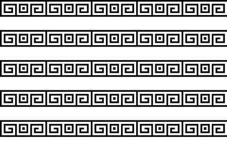 Greek key seamless pattern or texture. Vector Vector Illustration