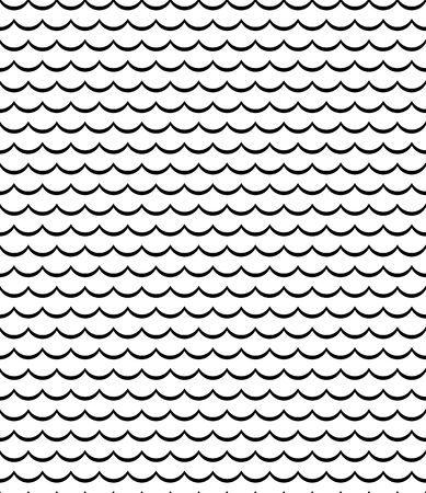 Waves lines design elements seamless pattern in fish scales chinese style