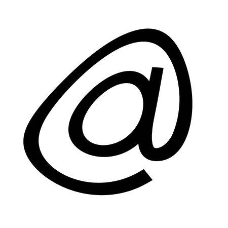 Arroba or simple at sign icon vector art design