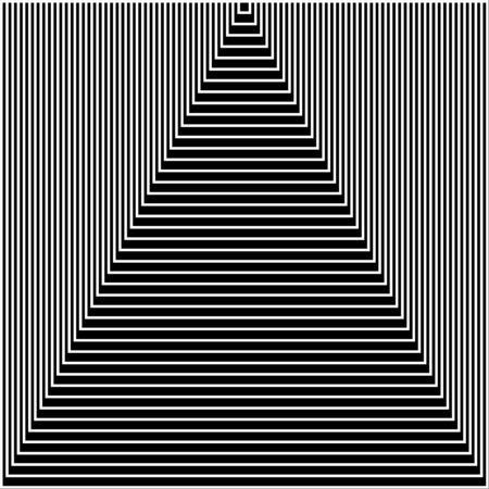 Black and white stripes or lines abstract graphic optical art. Art tunnel or stairs up Ilustracje wektorowe