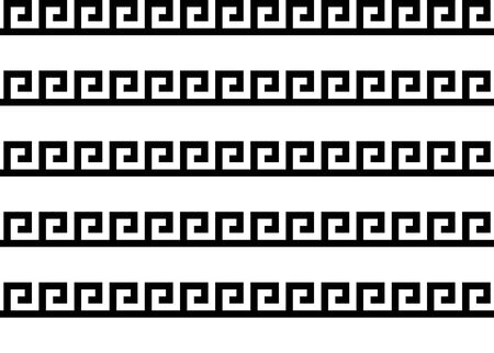 Greek key seamless pattern or texture. Vector