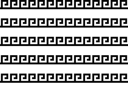 Griechische Schlüssel nahtlose Muster oder Textur. Vektor