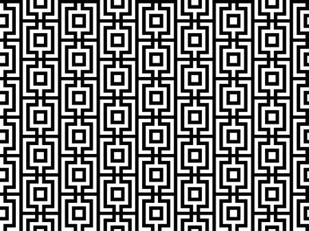 Striped grid with squares art seamless