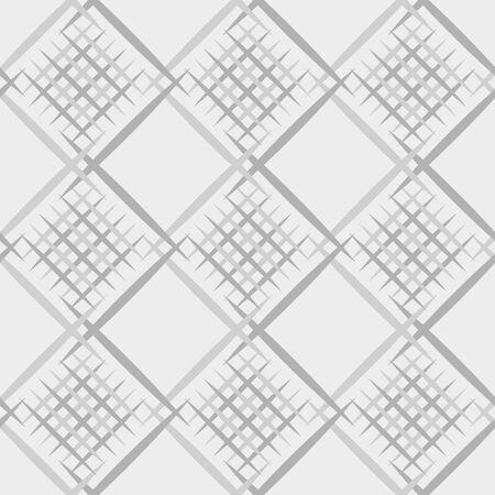 Diagonal lines grid seamless texture, vector fabric pattern Foto de archivo