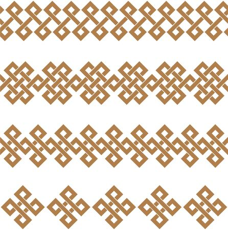 Typical egyptian, assyrian and greek motives texture border or frame. Greek key. Arabic geometric texture. Islamic Art. Abstract geometric. Vector and illustration.