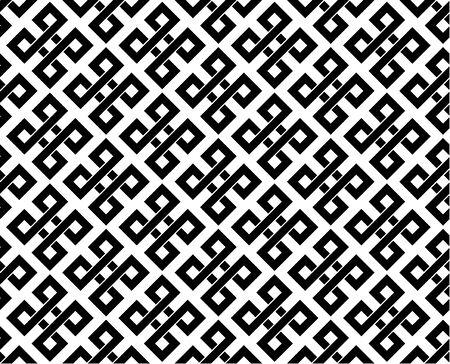 Typical egyptian, assyrian and greek motives. Greek key. Arabic geometric texture. Islamic Art. Abstract geometric. Vector and illustration.