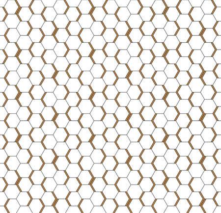 White seamless honeycomb hexagonal art wall texture