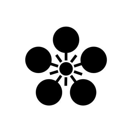 Sign or symbol in Japanese style design on white 版權商用圖片 - 159285899