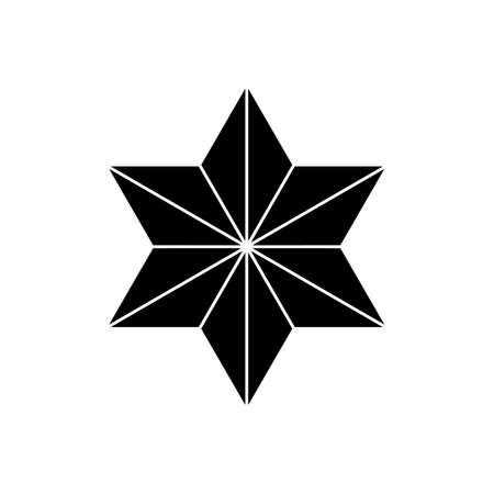 Japanese style design star Sign or Maruni symbol
