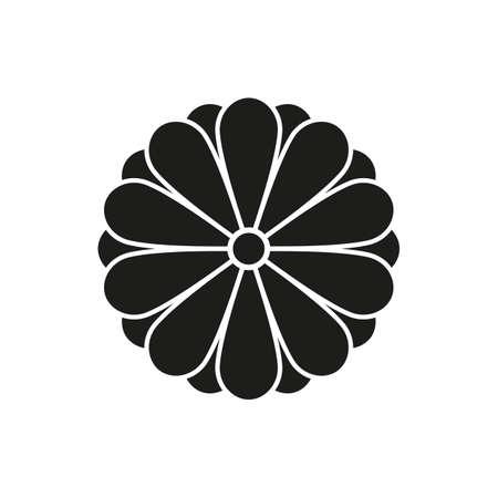 Japanese style design flower Sign, Imperial symbol