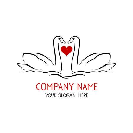 Swan logo art template vector illustration design 向量圖像