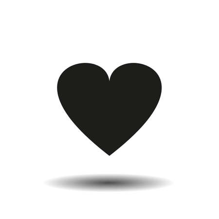 Heart Icon Vector. Vector image of a flat heart icon. 向量圖像
