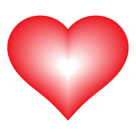 Red Heart shape with blending color effect. 向量圖像
