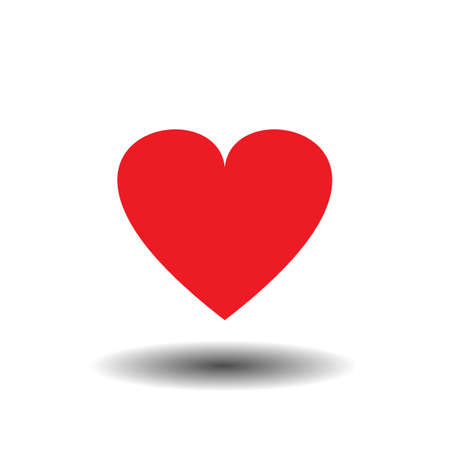 Red Heart Icon Vector. Vector of a flat heart icon