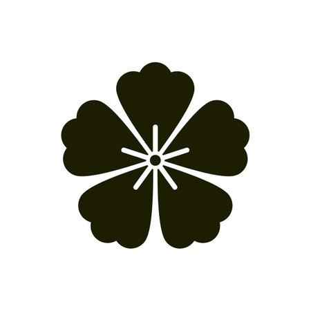 Sakura symbol or Japanese style flower design Sign 向量圖像