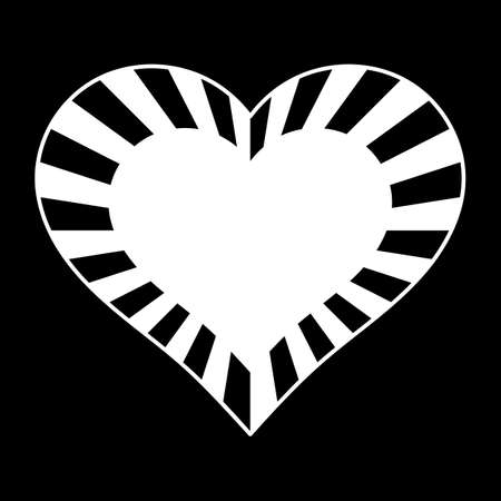 Striped heart frame. Happy Valentine s Day. Vector 向量圖像
