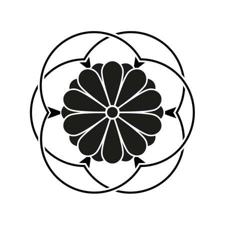 Japanese style design flower Sign, Royal symbol