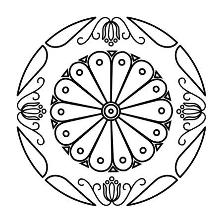 Japan style flower Sign Royal Hitachinomiya symbol Illusztráció