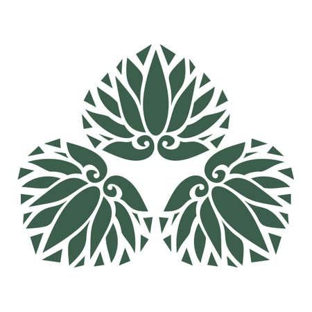 Japan style design flower Sign, leaf symbol