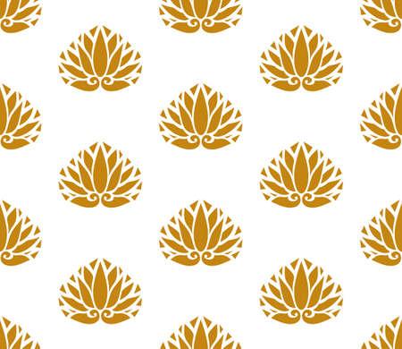 Japan style design flower Sign, leaf symbols seamless texture