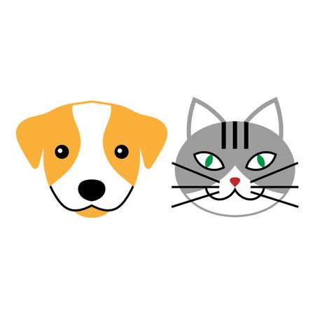 Cat and dog vector signs or logo. Vector for veterinary clinic. Illusztráció
