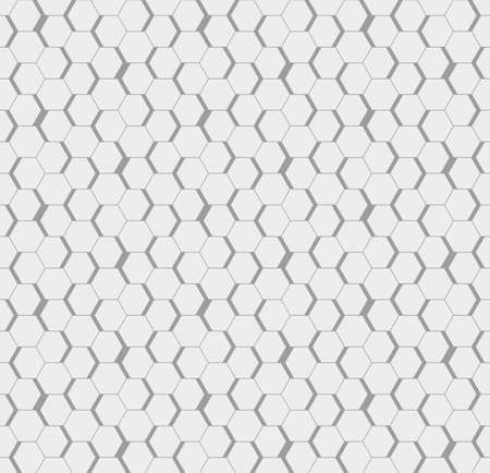 Gray seamless honeycomb hexagonal wall background.
