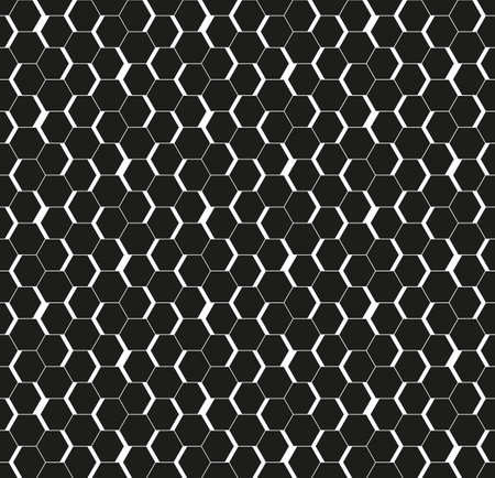 Black seamless honeycomb hexagonal wall background.