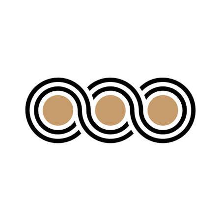 Greek waves seamless vector symbol pattern or braided ornament logo.