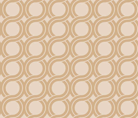 Greek waves seamless vector pattern or braided chain ornament.
