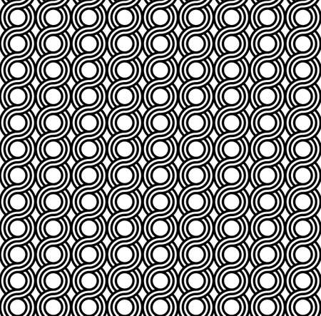 Greek waves seamless vector pattern or braided ornament.