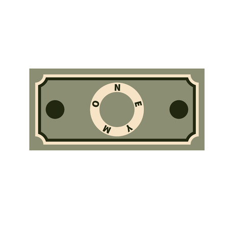 Illustration of cash money on white background. Flat design. Vector finance banknote illustration.